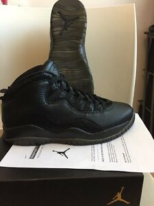 15c6b6001a0 Nike Air Jordan 10 OVO Black sneakers Size 9.5 NIB With Receipt From ...