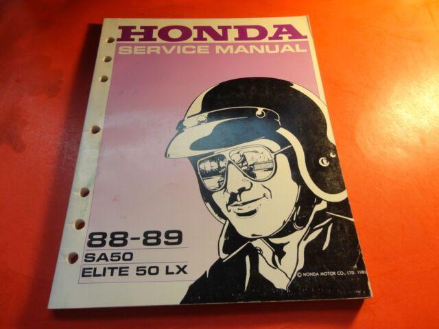 Oem Factory Service Manual Honda 1988 1989 Sa50 Elite 50