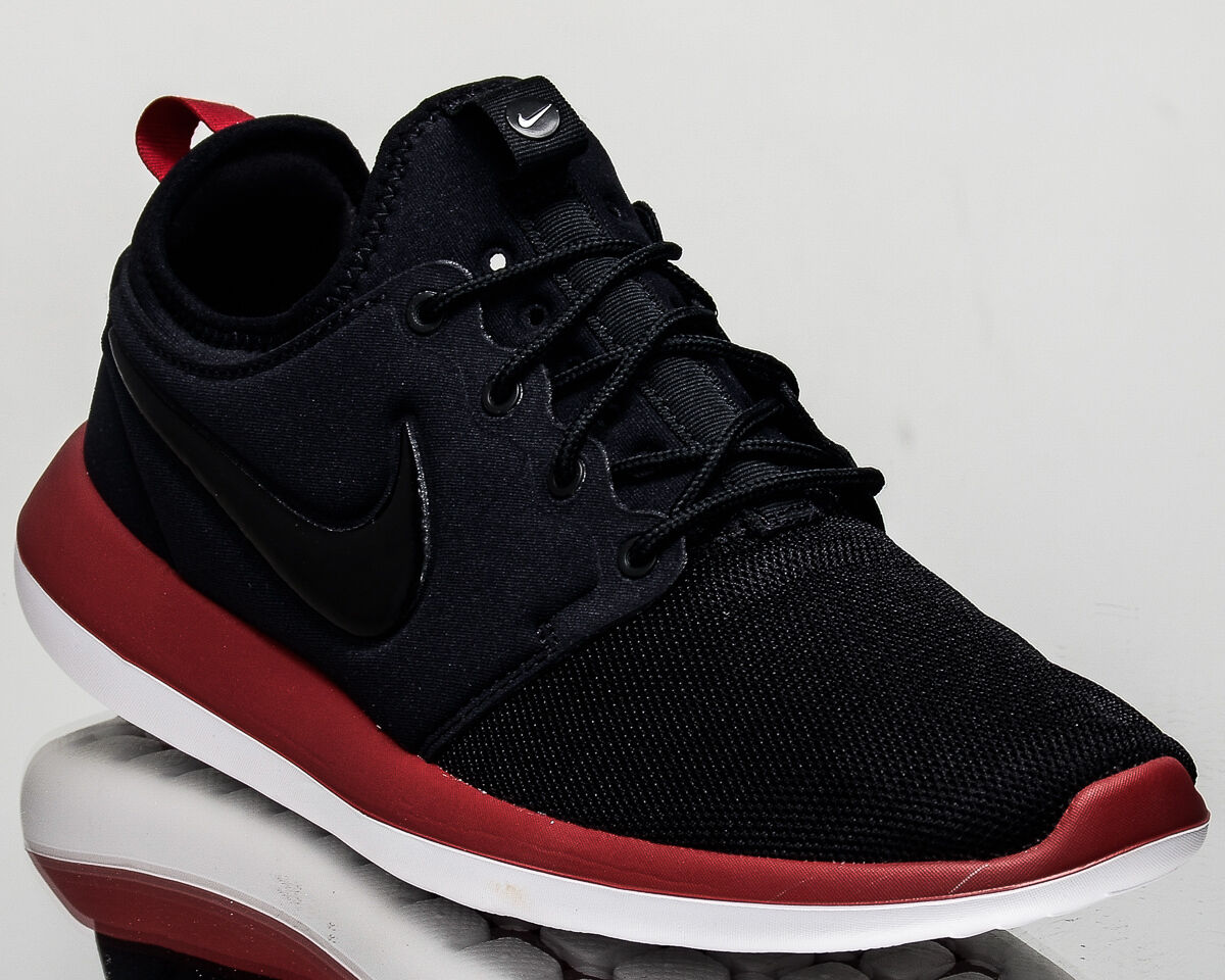 Nike Roshe Two 2 men lifestyle casual sneakers NEW black red white 844656-005