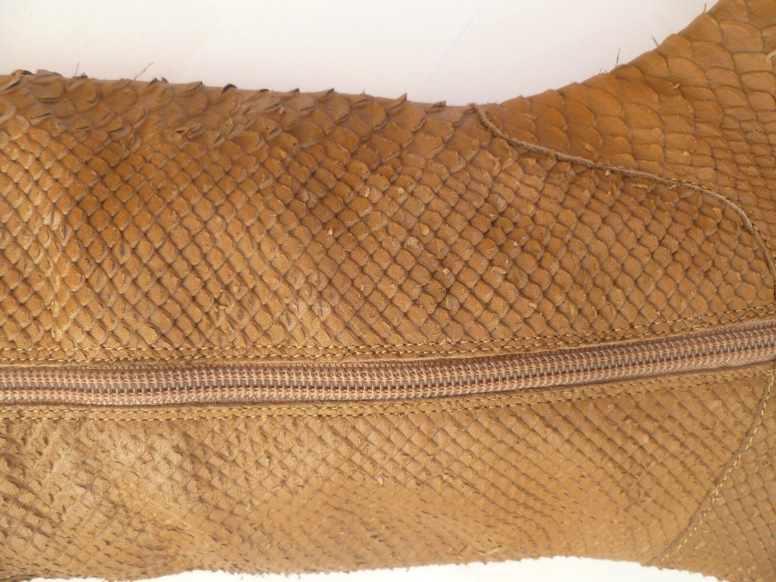 Kelsi Dagger Charmer Brown Snake Skin Textured LEATHER STIVALI OVERKNEE 6 6 OVERKNEE 61/2 d7ef36