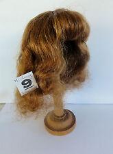 PERRUQUE de POUPEE 100% cheveux T9 (32cm) mi-long Chatain-roux -50% SUPER PROMO-