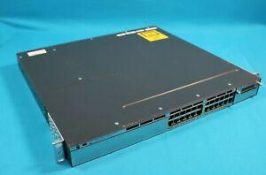 Cisco-Catalyst-3750X-24-Port-Ethernet-Network-Switch-WS-C3750X-24T-L-Ears-READ
