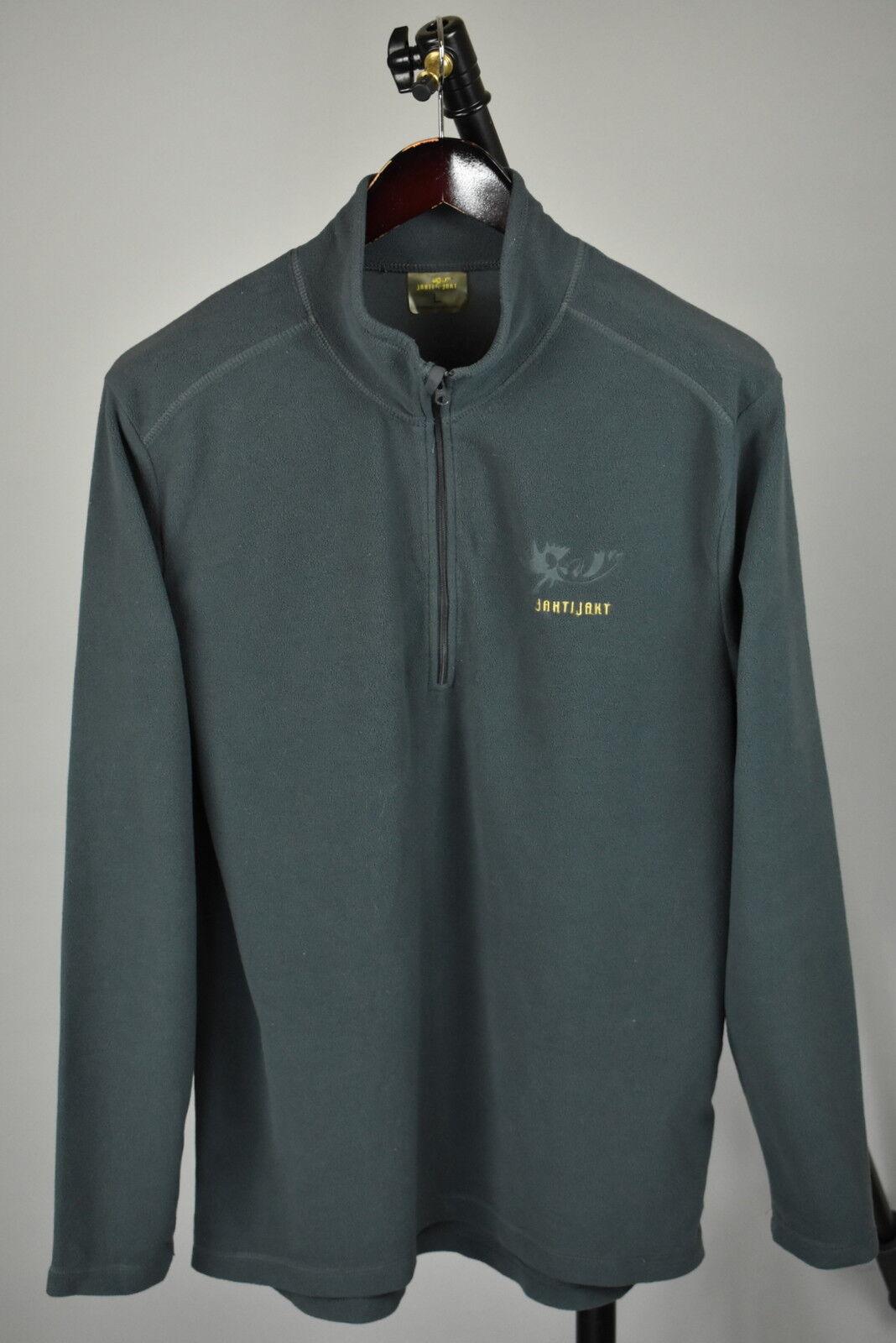 JAHTI JAKT Men's LARGE Thin Polyester Fleece Half Zip Grey Jumper RCS11394