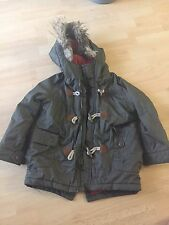 Boys Zara Coat Age 4-5 With Removable Fur