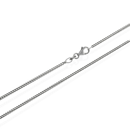 925 Sterling Silver Initial protected Curb Chain King Chain Womens Mens Necklace