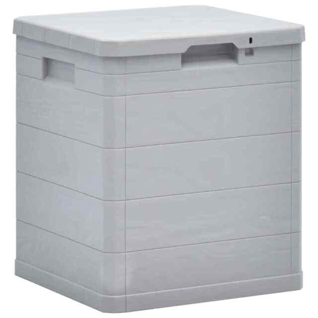 Vidaxl Garten Aufbewahrungsbox 90l Hellgrau 45683 Gunstig Kaufen Ebay