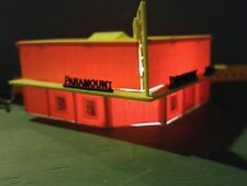 Movie Theatre & Drugs Built Lighted PLASTICVILLE HO Scale Train Track Building