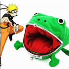 Naruto Kunai Ninja Weapon Frog Shape Cosplay Coin Purse Wallet Soft Furry Gift S