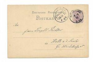 Deutsche-Reichspost-Postkarte-1878-nach-Halle-a-d-Saale