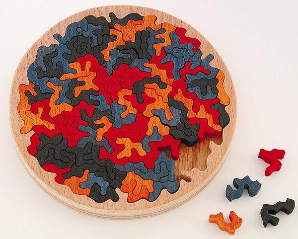 Holz-Puzzle Konfetti, ca. 100 Teile, knifflig, schwierig, Unnerstall