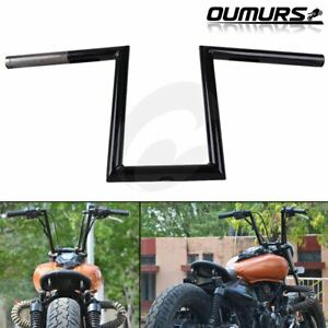 "Drag Handlebars 1/"" Z Bars For Harley Triumph Victory Custom Chopper Bobber Dyna"