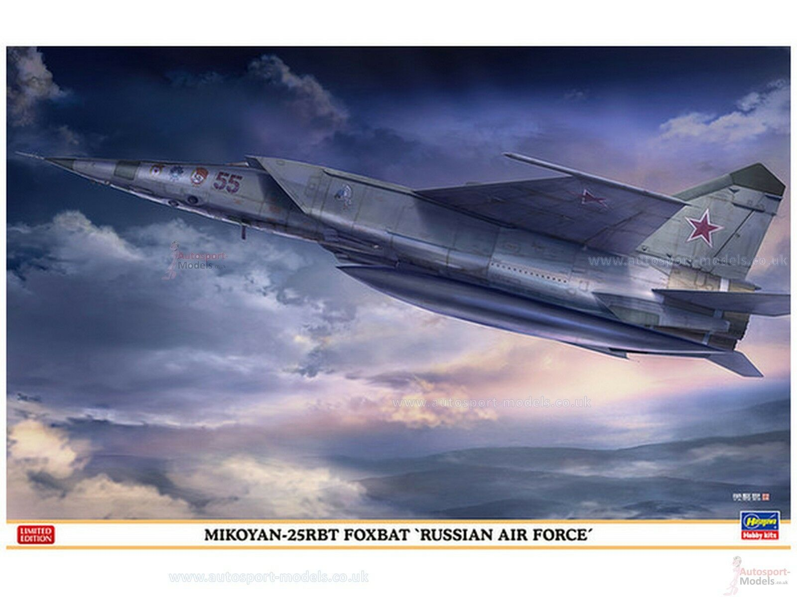1 48 Russian Air Force Mikoyan-25RBT Foxbat Limited Edition kit by Hasegawa