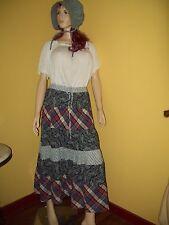 1800's Pioneer Prairie Costume size XL Music Man Skirt, Blouse New Bonnet or Hat