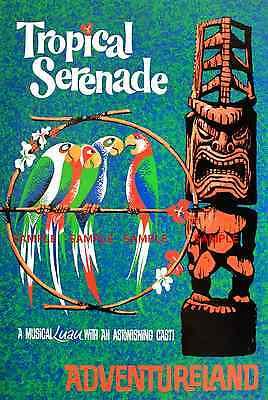 "Poster Vintage Disneyland  America the Beautiful 1960 8.5/"" x 11/"""