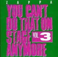 Frank Zappa - You Can't Do That On Stage Anymore 3 [new Cd] Uk - Import on sale