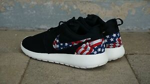 official photos b84c0 c98d9 Details about New Nike Roshe Run Custom American Flag Red White Blue  Edition Men Sizes 8 - 15