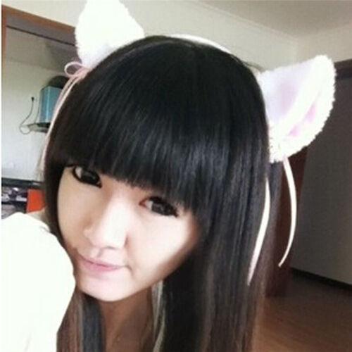 Women Fox Cat Ear Hair Clip Hairband Bell Hairwear Hair Band Fashion—HQ YE
