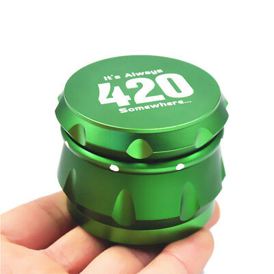 """Hearty 1 X Crusher Drum 2.5"""" 4 Layers Tobacco Herb Grinder Spice Miller-green Tobacciana Grinders"""