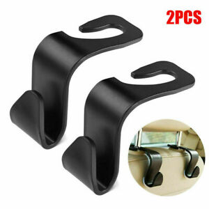 2PCS Black Car Seat Hook Purse bag Hanger Bag Organizer Holder Clip Accessories