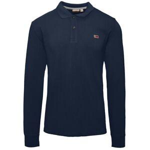 Napapijri-Taly-2-Long-Sleeve-Polo-Shirt-Pullover-Sweater-Marine-N0YIX7176