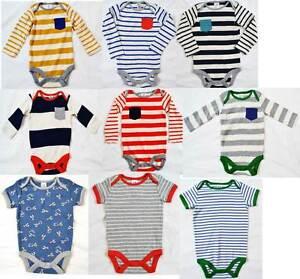5fc67b15c0e3 Mini Boden baby boys soft cotton stripe romper body vest various ...