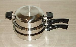 lustre craft cookware lustre craft west bend small skillet amp steamer 5ply 2366