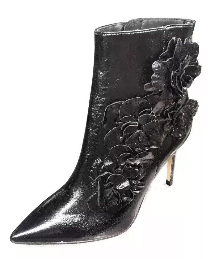 Zara Bottines 37, US 6.5 en Cuir Floral 6076 201 040