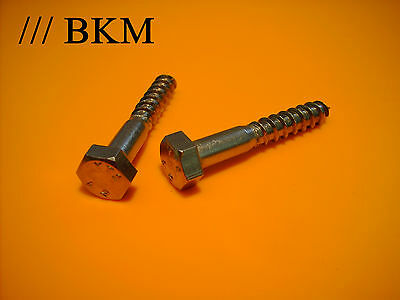 Sechskant-Holzschrauben ø 6x30 bis 80mm DIN 571 Schlüsselschrauben Edelstahl V2A