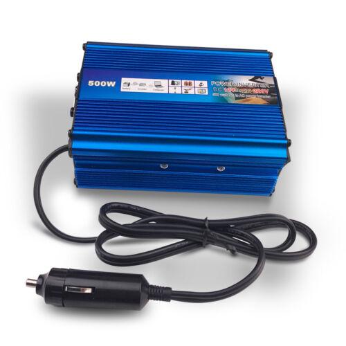 500W/1000W Dual USB Car Charger Converter Power Inverter DC 12V to AC 220V-240V