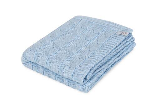 """Blue Baby Blanket /""""Printemps GALON/"""" tissé crochet coton peigné Cellulaire Couverture"""