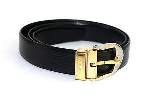 594b1c8f231 Auth Louis Vuitton Ceinture Gold tone buckle Belt Epi Leather SIZE ...