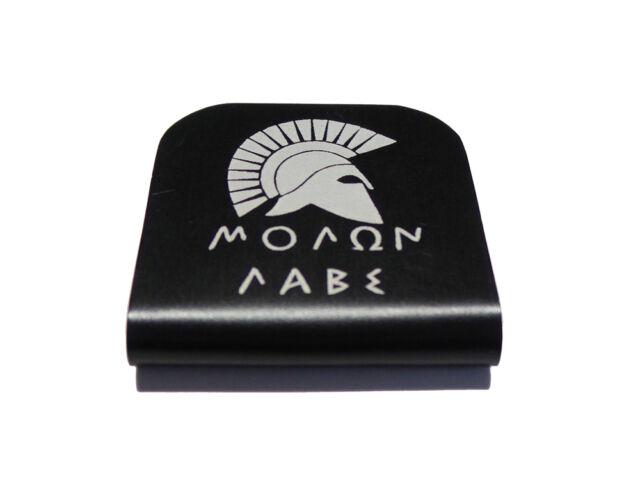 Molon Labe Spartan Black Hat Clip for Tactical Patch Caps by Morale Tags 0c3f1581853