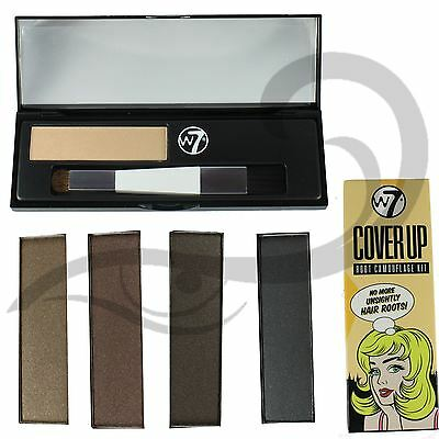 W7 Cover Up Root Camouflage Kit Covers Roots and Grey Hair Various Shades