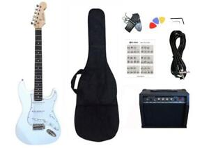 Christmas Gift ! Electric Guitar 20W Amp Package for beginners White PG462 Canada Preview