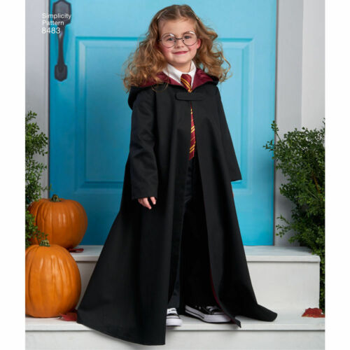Simplicity SEWING PATTERN 8483 Childs Cape Costumes Age 3-8