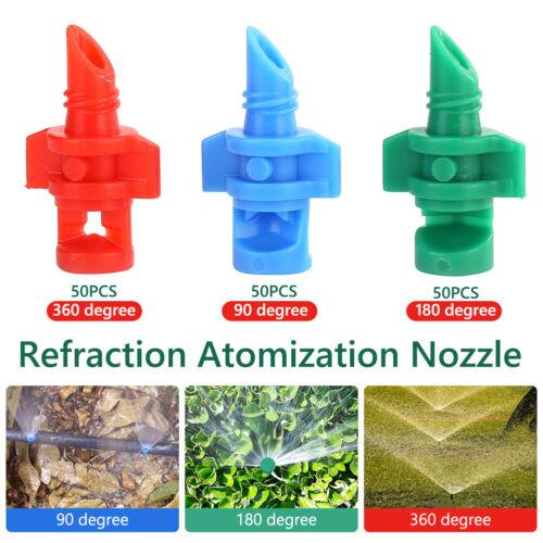 150//50pcs Micro Garden Lawn Water Spray Misting Nozzle Sprinkler Irrigation Set