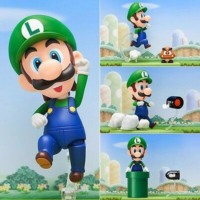 Nendoroid #393 World of Nintendo Super Mario Brothers Luigi Mario Action Figure
