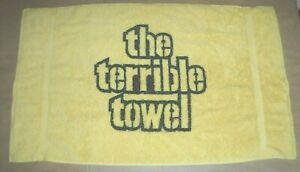 PITTSBURGH-STEELERS-RARE-TERRIBLE-TOWEL-EARLY-THREE-RIVERS-NO-TRADEMARK-TOWEL