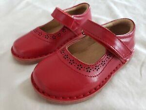 Jojo-Maman-Bebe-Girls-Dressy-Red-Mary-Jane-Shoes-Size-7-NEW
