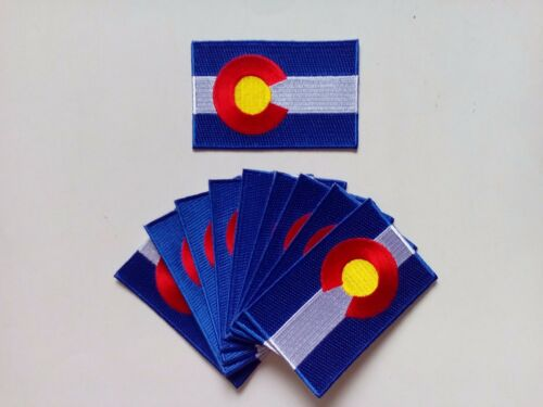 "50 Colorado USA State Flag Embroidered Patches 3.5""x2.25"" ironon"