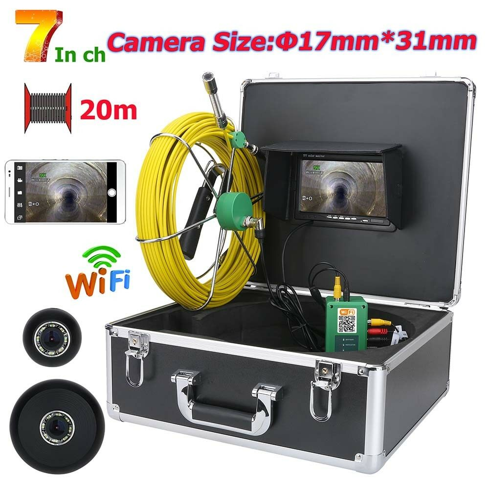 WiFi Wireless17mm Industrial Pipe Sewer Inspection Video recording Camera System   professional integrated online shopping mall