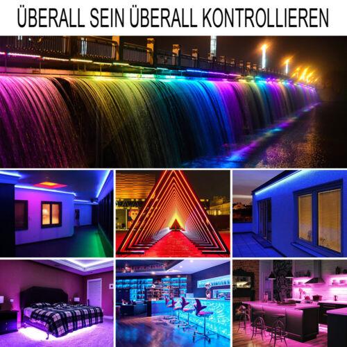 10m//20m WIFI RGB LED Stripe 5050 Leiste Streifen Band Licht Leuchte Lichterkette