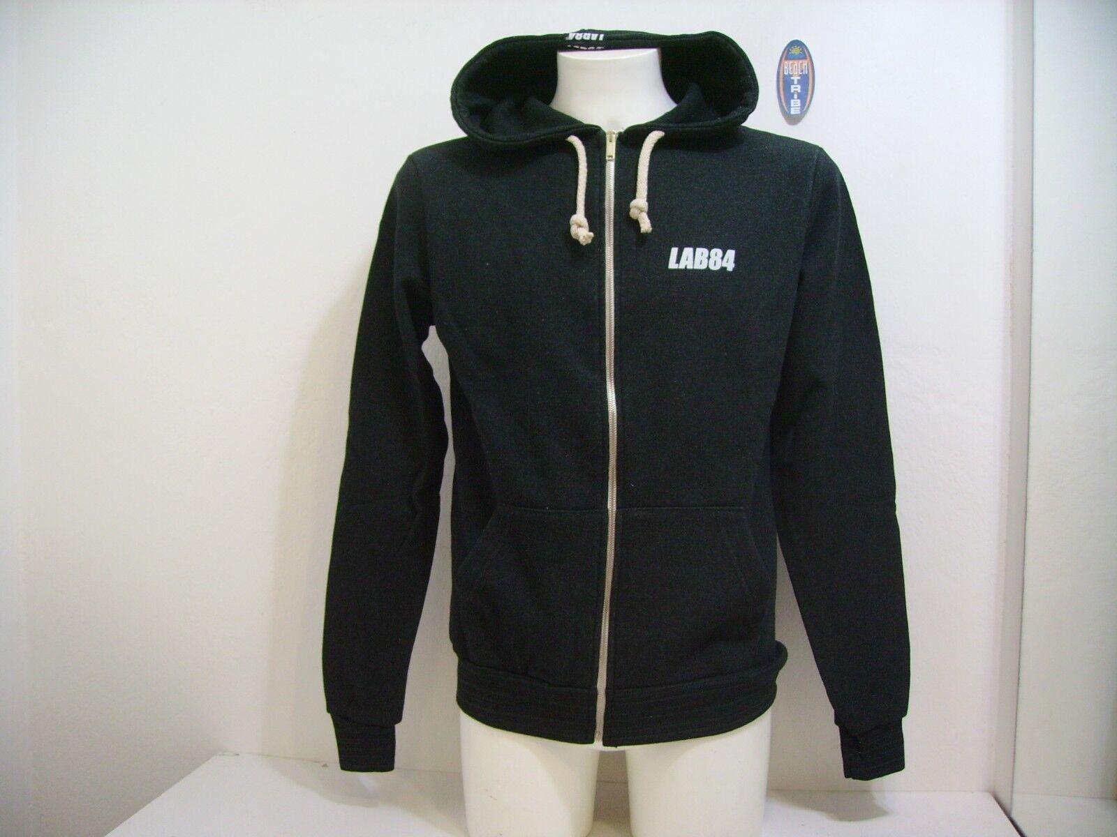 Lab84 Männer Pullover Abzugshaube geöffnet Winter F8 FLPM0324 grün Gr. S