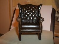 Chippendale Wing Chair - Resin - Doll House Miniature