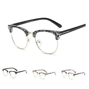Mens Retro Clear Lens Spectacles Glasses Frame Women Nerd ...