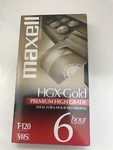 MAXELL-SEALED-HGX-GOLD-VHS-T-120-TAPE-6hr-Video-Cassette-Brand-New