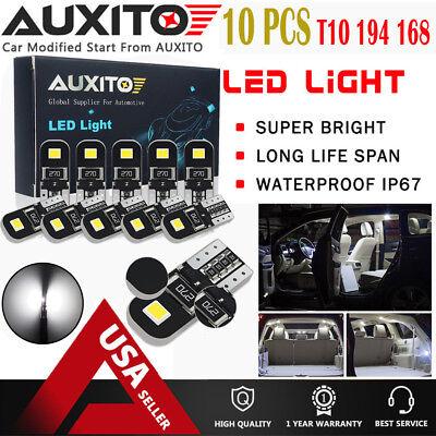 10X Canbus 194 168 2825 W5W T10 6000K LED Bulb License Plate Light Lamp White