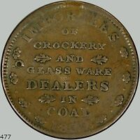 E.F. Sise & Co. Hard times token, 1837 Portsmouth NH