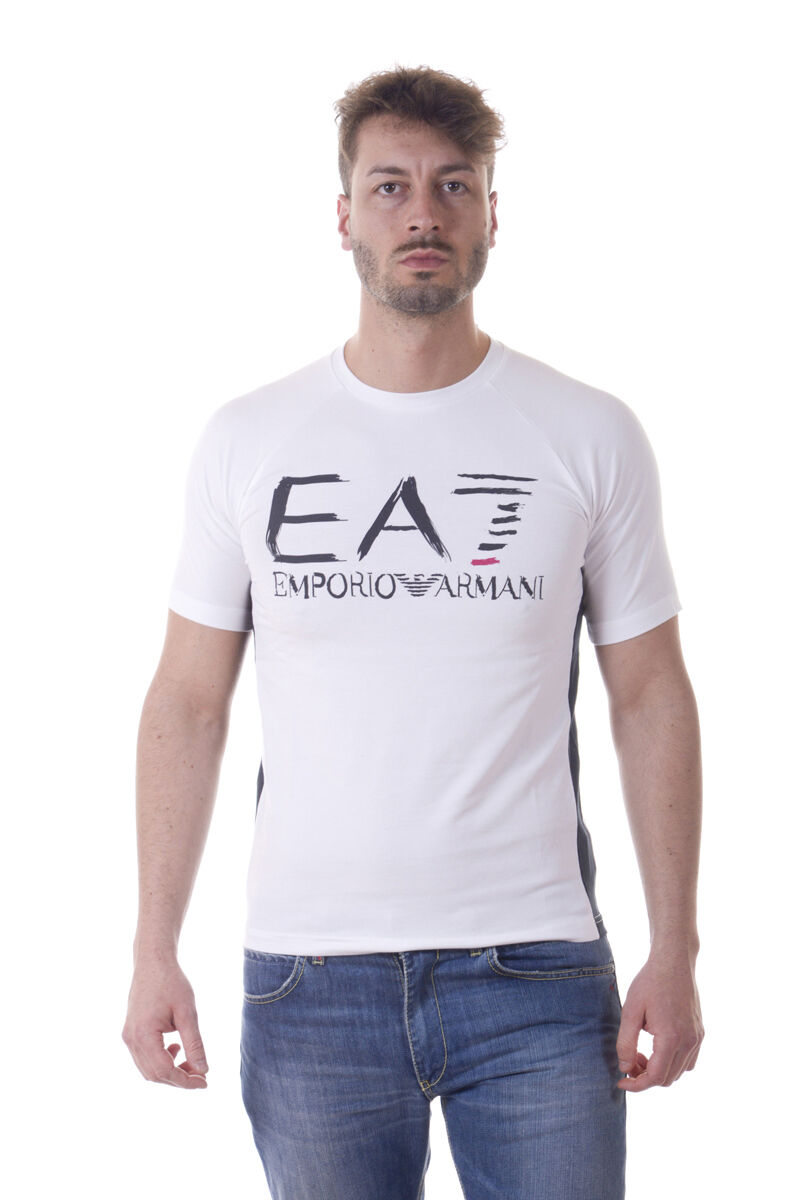 Emporio Armani EA7 T-Shirt Sweatshirt Sz. S Man Wht 3YPT59PJ73Z-1100 PUT OFFER