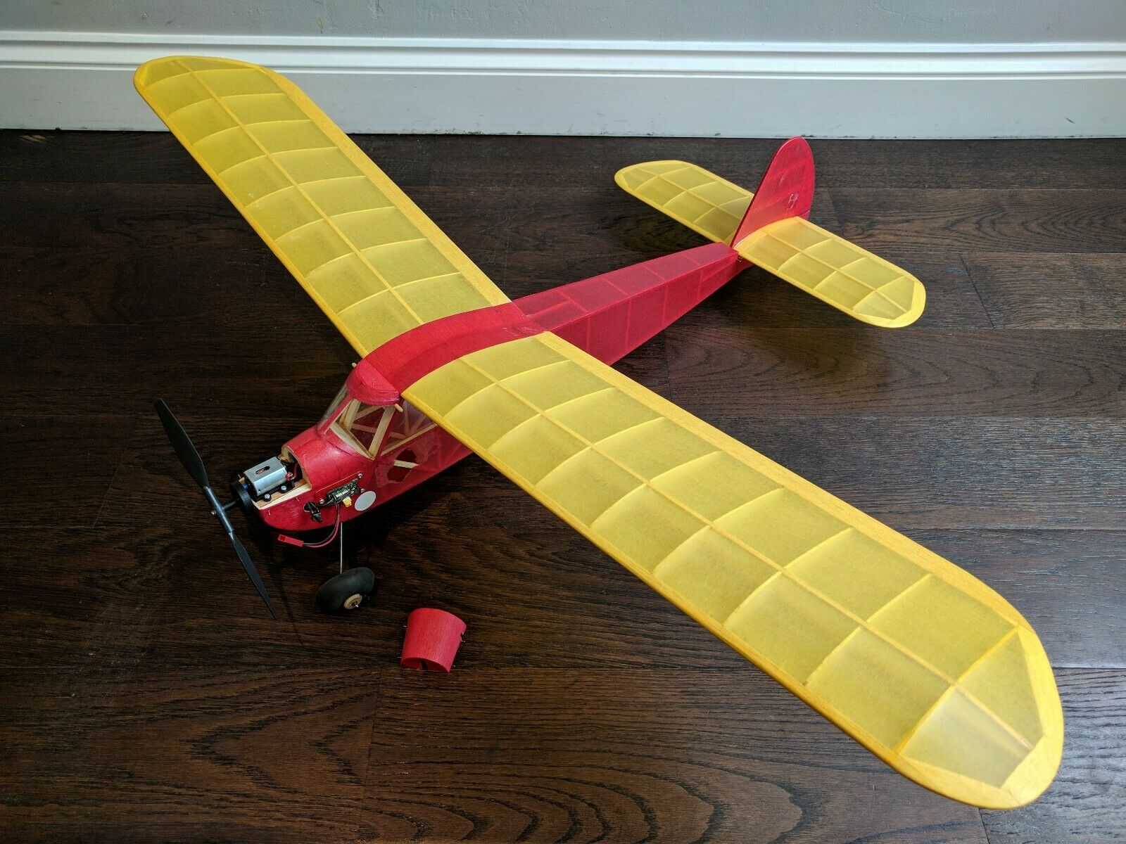 Free Flight model Airplane MOTOR POWERED 37  wingspan